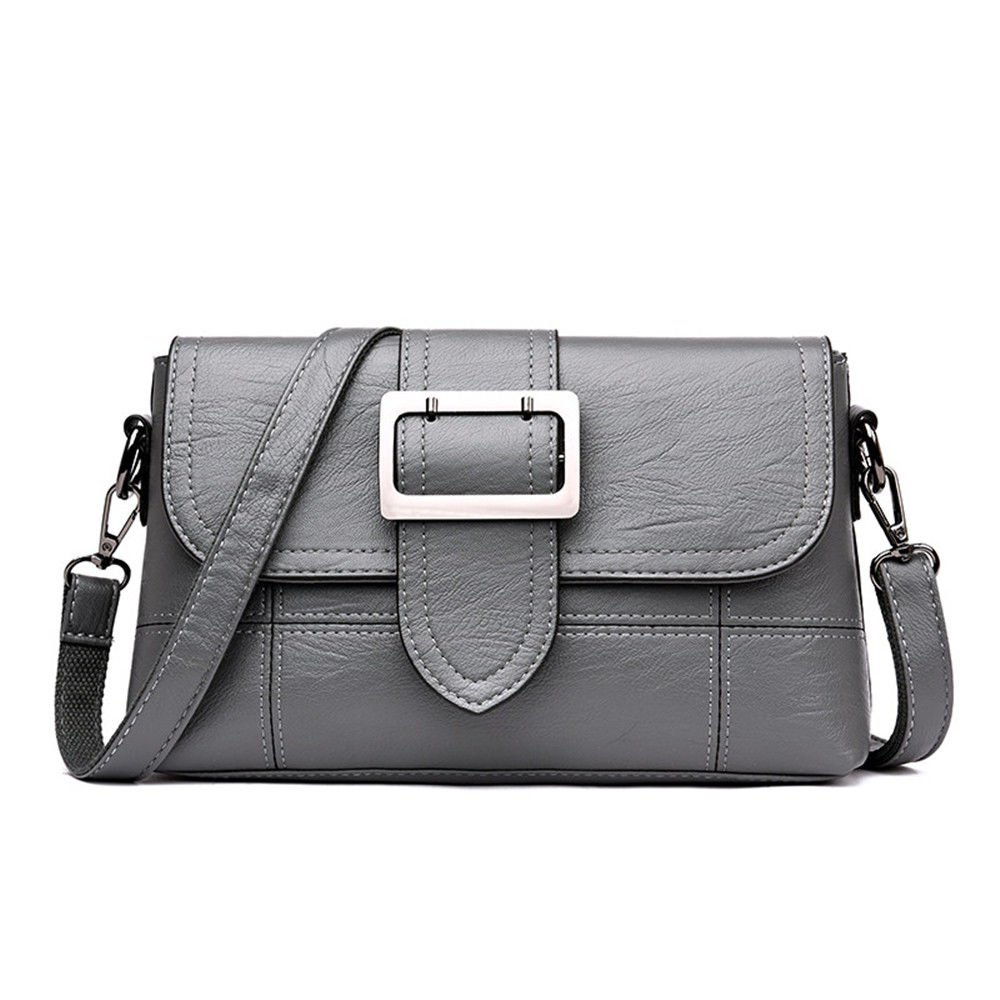 Bag Slant Bag For Elderly Ladies,Gray,27X17X7Cm