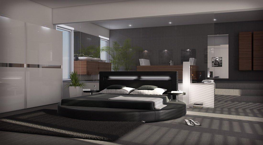 Sofá Dreams Night redondo cama negro completo con colchón ...