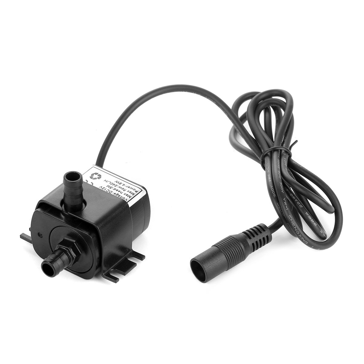 Mavel Star 12 Volt Small Mini Submersible Water Pump for Camping DIY Swamp Cooler PC CPU Water Cooling Fountain Water Fall 63 GPH Upgraded Version