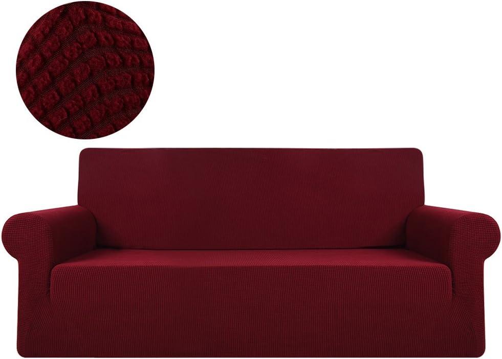 ZhongYeYuanDianZiKeJi Stretch Corner Sofa Slipcovers loose chair Sofa Covers 1-Piece Polyester Spandex Fabric Stretch Slipcovers grey-1seat