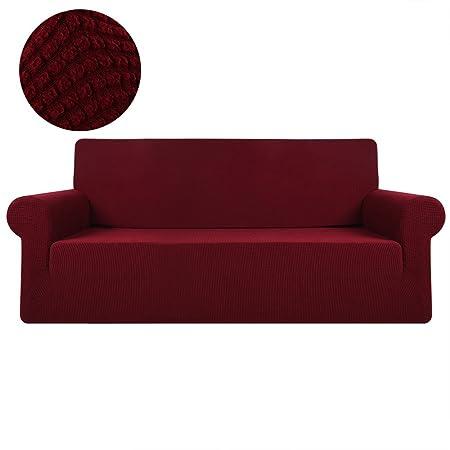 Terrific Zhongyeyuandianzikeji Stretch Corner Sofa Slipcovers Loose Chair Sofa Covers 1 Piece Polyester Spandex Fabric Stretch Slipcovers Red 2Seat Inzonedesignstudio Interior Chair Design Inzonedesignstudiocom