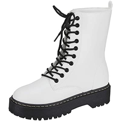 Harper Shoes Womens Combat Boots Lace Up   Boots