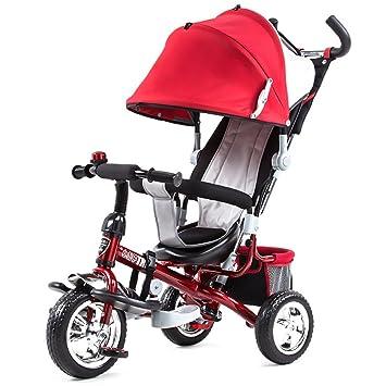 QWM-Las bicicletas infantiles para bebés Niños Carros de triciclo Carritos de bebé Niño Bicicletas 3 ruedas, Rojo Regalo para niños: Amazon.es: Deportes y ...