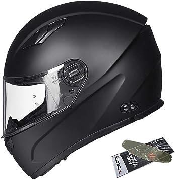 Matte Black, 3XL ILM Motocross Snowmobile Full Face Motorcycle Helmet Pinlock Insert Anti-fog Visor ATV Casco for Men Women DOT