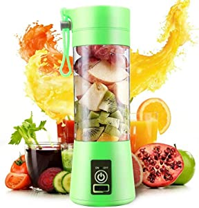Portable blender, blender bottle,Eletric USB Juicer Cup,bottle blender for shakes and smoothies, Electric Fruit Mixer, small blender (Blue)