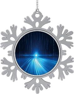 C COABALLA Binary Code Computer Network Network,Cute 2020 Home Décor Hanging Snowflake Decorations Ornament Digital Display 3PCS
