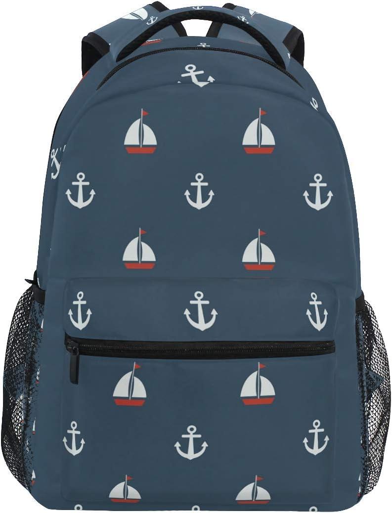 Nautical Elements Laptop Backpacks Travel Back Packs School Bag for Travel Hiking Camping School Laptop Backpack for Women Men