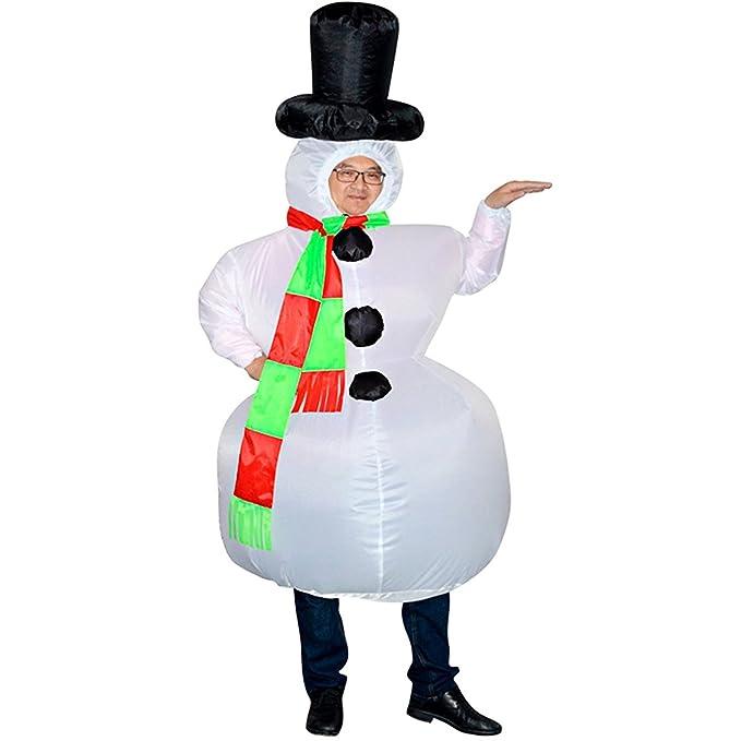 Amazon.com: wecloth Navidad Muñeco de nieve Disfraz De ...