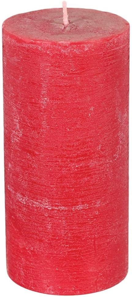 Bougie Rustique cylindrique Rouge H14 Atmosphera