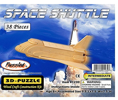 【爆売りセール開催中!】 3 # - D木製パズル – Space Affordableギフトfor Shuttle Model – Affordableギフトfor Shuttle your Little One。Item # dchi-wpz-p054 by all4lessshop B004QDXPQ8, ITALIAのMONO:aed3a54e --- quiltersinfo.yarnslave.com