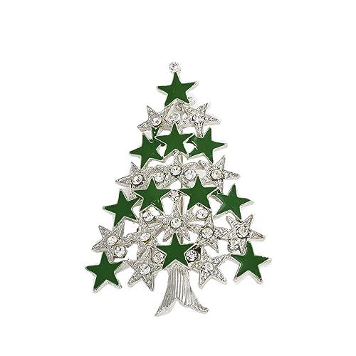 Sterne Für Weihnachtsbaum.Art Und Weise Nette Weihnachtsbaum Sterne Klaren Kristall Broschen