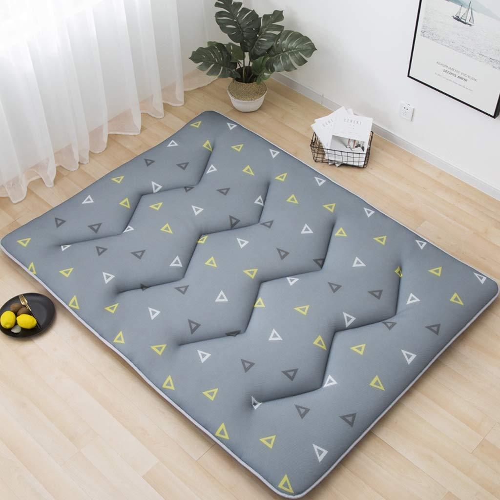HY Mattress - Upholstered Thicken Tatami, Single Pople Home Dorm 1.2 M Sponge Mat (Color : Blue Green, Size : 90x200cm)