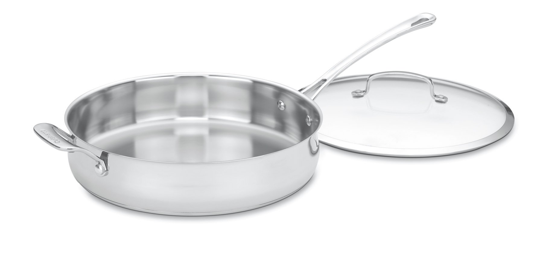 Cuisinart 433-30H Contour Stainless 5-Quart Saute Pan with Helper Handle and Glass Cover by Cuisinart