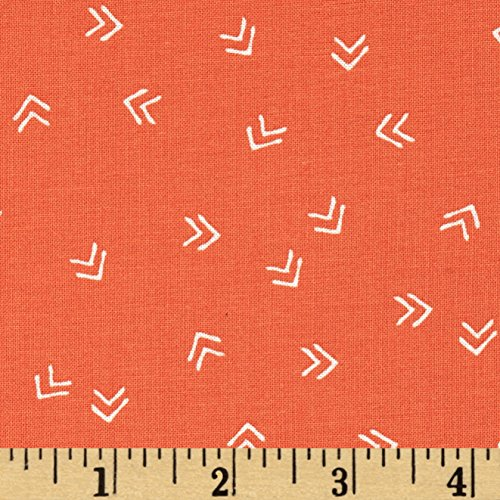 Maywood Accent - Cycles of Life Sharrows Orange Fabric