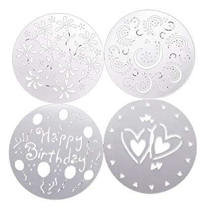 buy cake stencils template heart flower spray print mold cake
