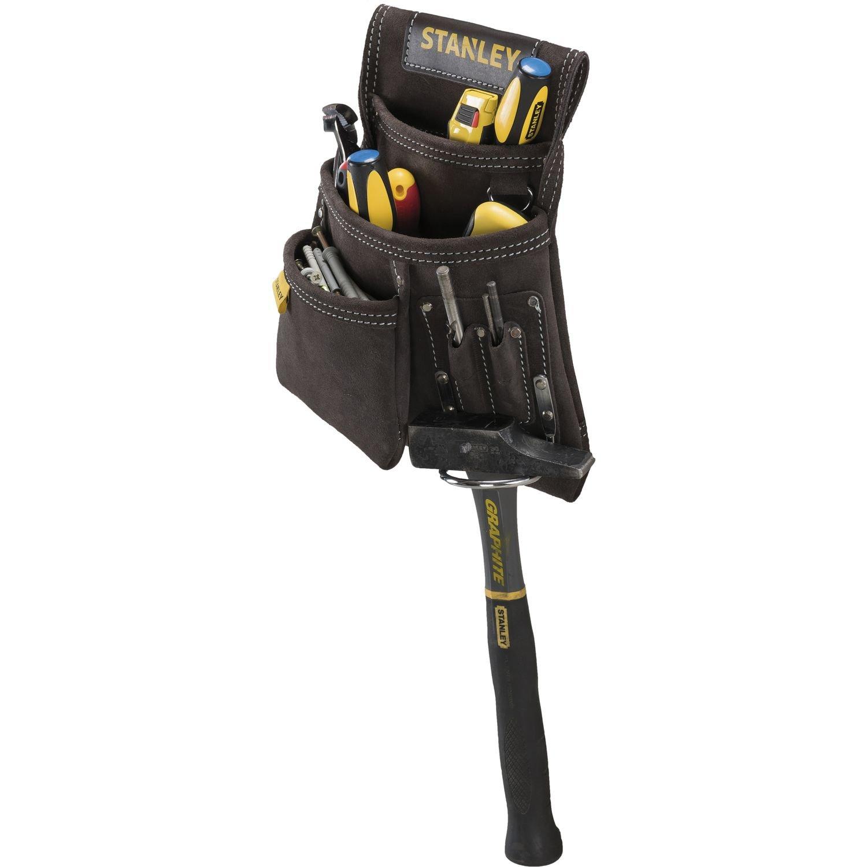 STANLEY STST1-80114 - Bolsa para clavos con soporte para martillo