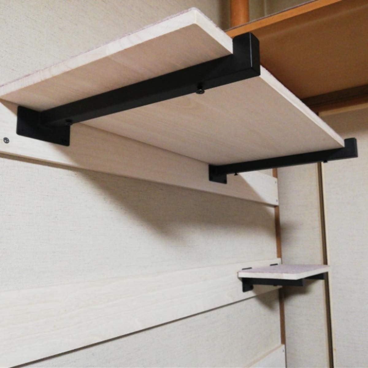 soporte para bricolaje 20cm Soportes de pared para estantes flotantes paquete de 2 Homtone Soporte para Estanter/ías de Metal