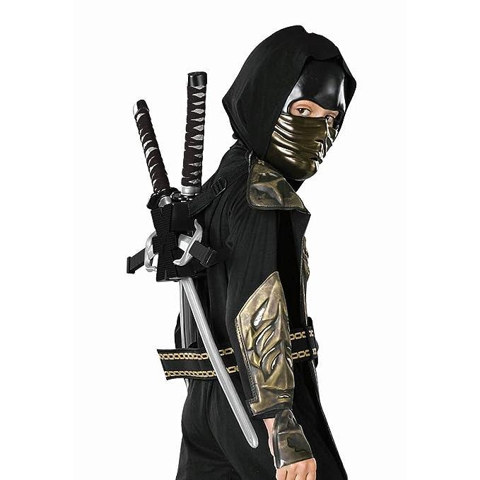 Amazon.com: Toy Black Ninja Backpack, Child: Clothing