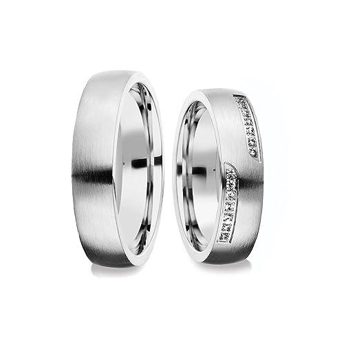 alianzas alianzas de anillos de compromiso Amistad Anillos Plata 925 anillo de lujo Funda &