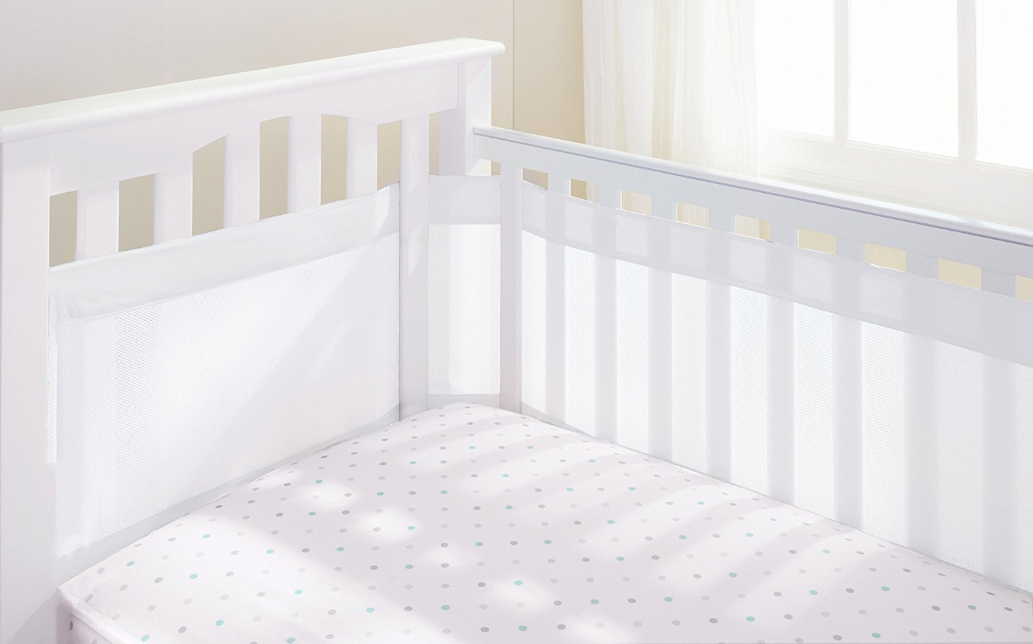 AirFlow 4 Sided Cot Mesh Liner - White 22511