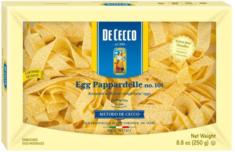 amazon com de cecco pasta egg pappardelle 8 8 ounce italian