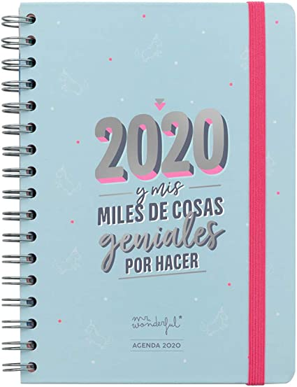 Mr. Wonderful, Agenda Clásica 2020: Amazon.es: Oficina y papelería