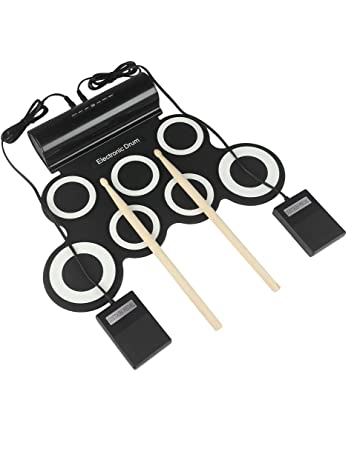 Newmere Set Batteria Elettronica Addensato Roll Up Tamburo Elettrico Pad Pratica Ottimo Regalo di Natale per Bambini Principiante