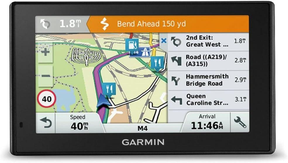 Europa Karte lebenslang Kartenupdates und Verkehrsinfos 5 Zoll 12,7 cm Smart Notifications Garmin Drive Smart 51 LMT-D EU Navigationsger/ät Zertifiziert und General/überholt Touchdisplay