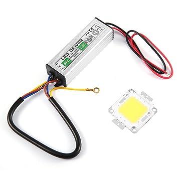 Bombillas LED SMD de chip de 50 W de alta potencia y resistencia al agua con controlador LED: Amazon.es: Hogar