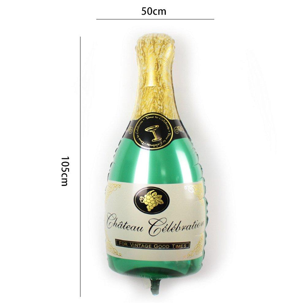 BESTOYARD Happy Birthday Cake Champagne Cup Bottle Foil Balloon Birthday Party Pack by BESTOYARD (Image #2)