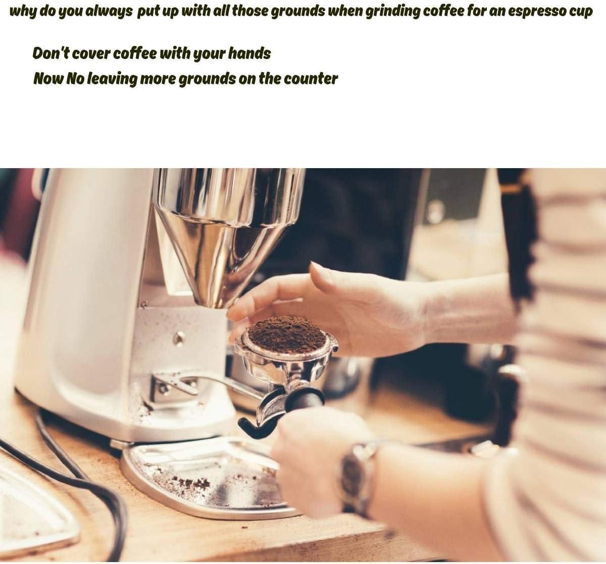 Anillo de dosificaci/ón de caf/é acero inoxidable embudo de dosificaci/ón de espresso portafilter de dosificaci/ón de embudo de dosificaci/ón de la m/áquina de caf/é accesorios de repuesto