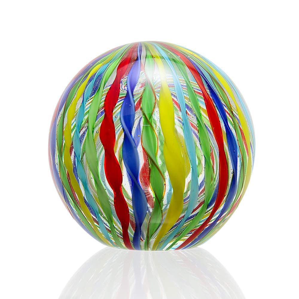 Anecdotal Aardvark Art Glass Circus Sphere and Paperweight Glass Ball by Anecdotal Aardvark