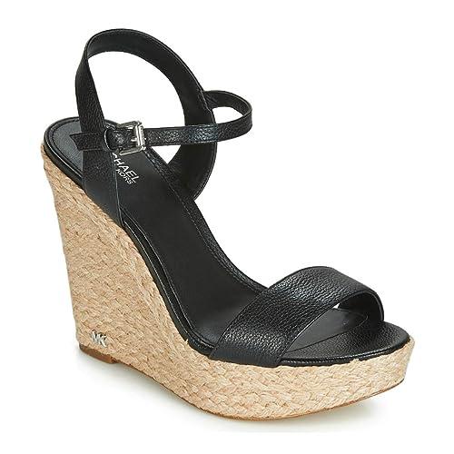 5f97addbe35 Michael Michael Kors Jill Wedge Leather/Jute Sandals Black