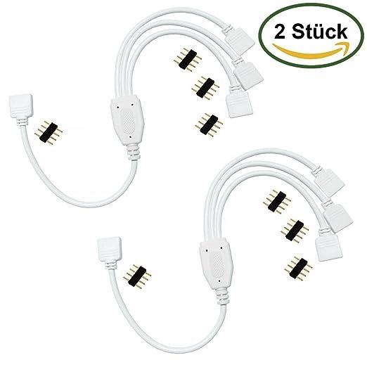 37 opinioni per LitaElek 2 Pack 4 pin cavo splitter per uno a tre LED di colore RGB che cambia