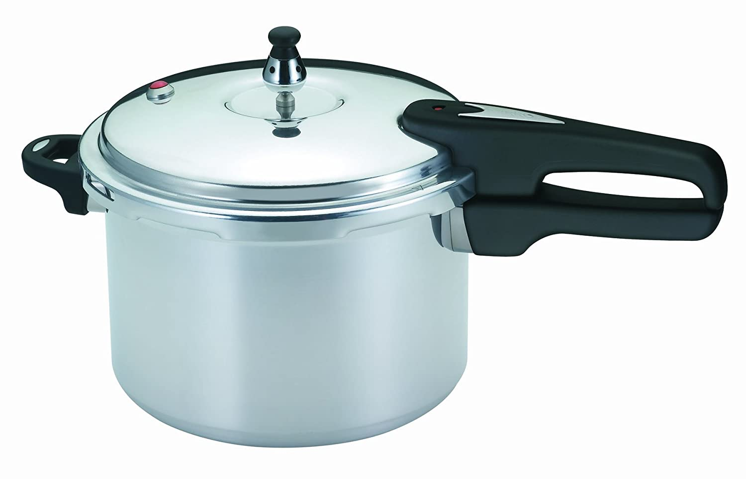 Mirro 92160A Polished Aluminum 10-PSI Pressure Cooker Cookware, 6-Quart, Silver