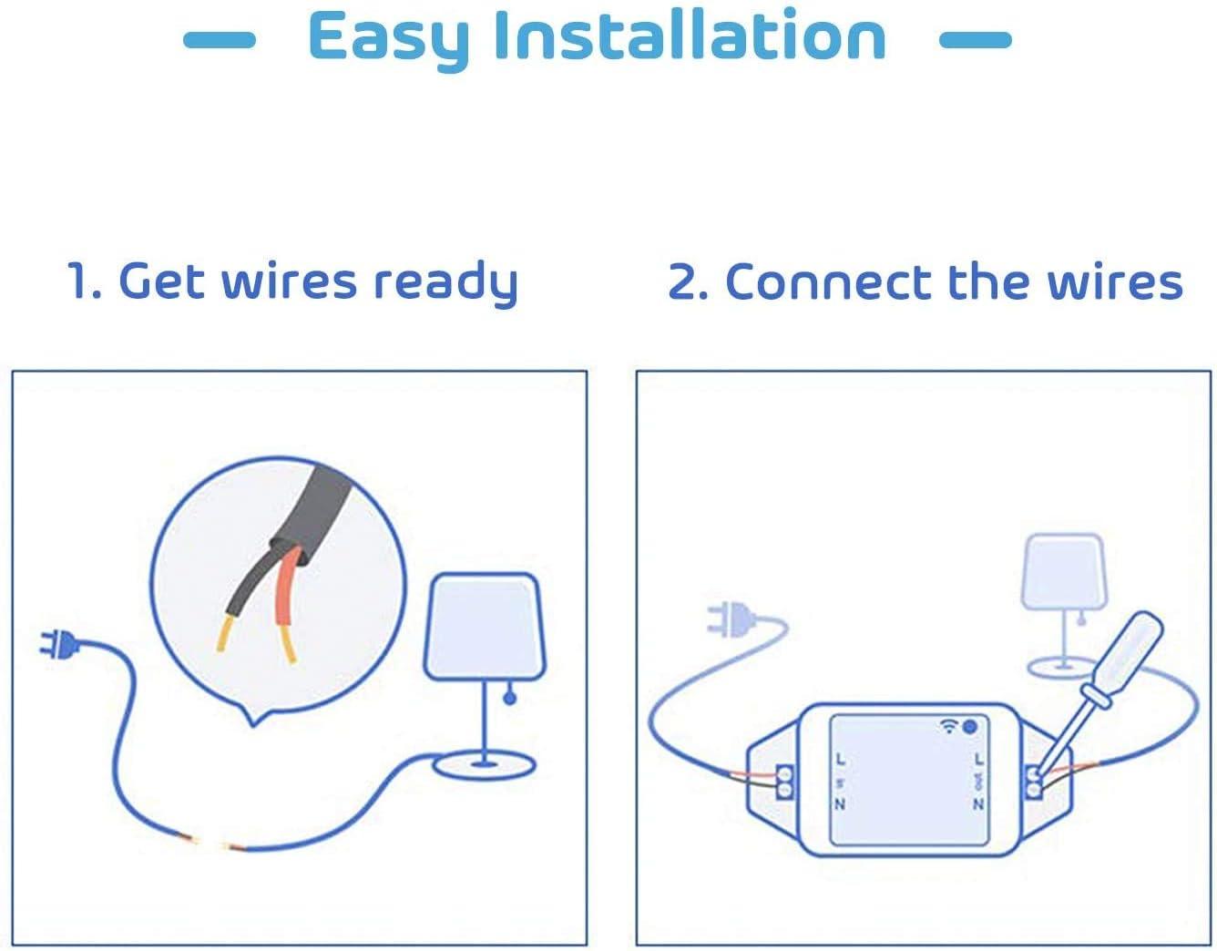 Instalacin elctrica Compatible con Alexa Google Assistant y ...
