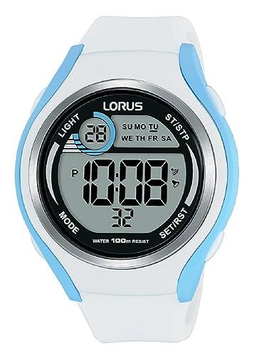Lorus Reloj Digital para Mujer de Cuarzo con Correa en Silicona R2387LX9: Amazon.es: Relojes