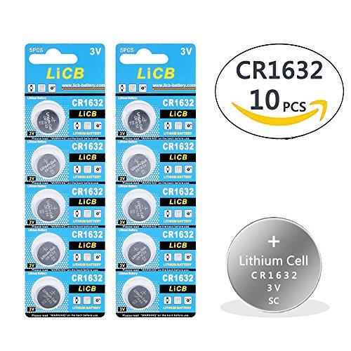 LiCB 10 Pack CR1632 3V Lithium