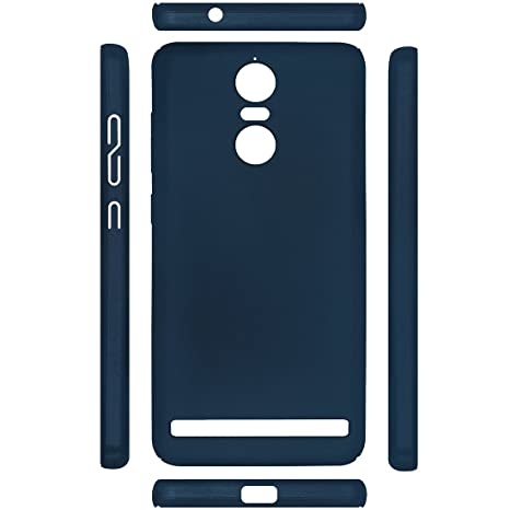 cheap for discount d3f2c 37aad Casotec All Sides Protection 360 Degree Sleek Rubberised Matte Hard Case  Back Cover for Lenovo K5 Note - Marine Blue