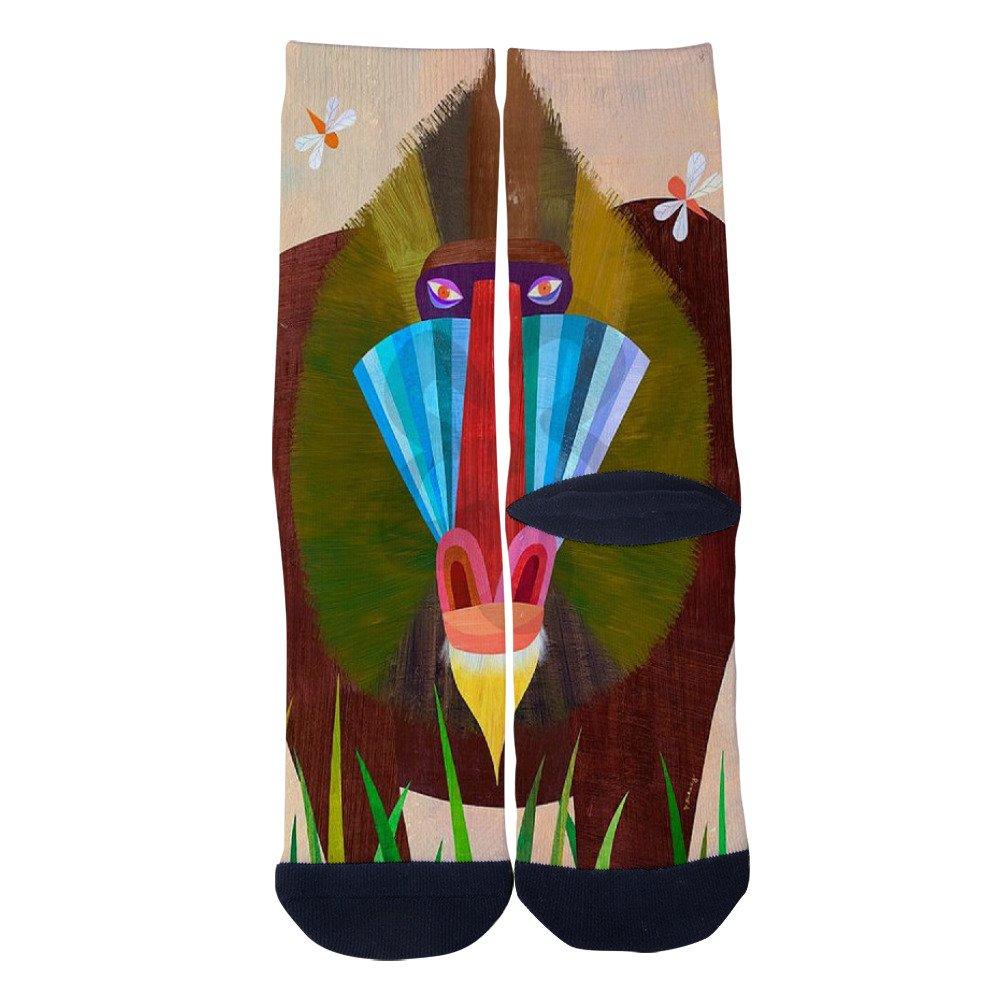 Baboon Socks AlyGoo 3D Print Funny Custom Crew Casual Socks