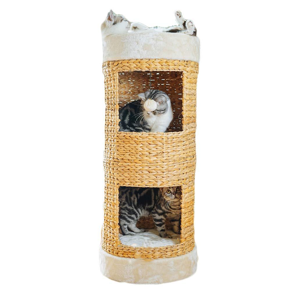 Mishap Pet Furniture, Natural Puffer Bucket Cat Climbing Frame Cat Scratch Board Cat Litter Breathable Comfort