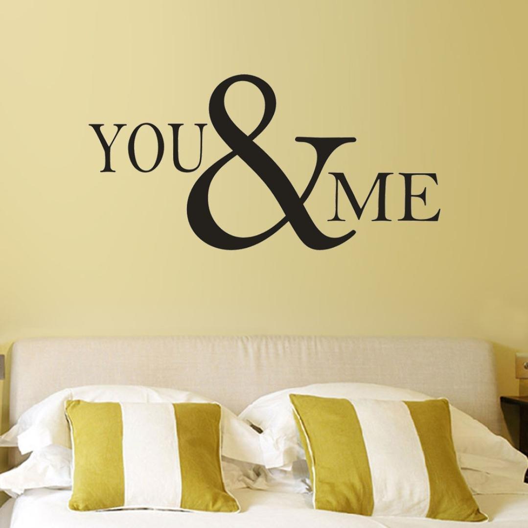 Amazon.com: Yeefant PVC Wall Stickers, You&Me Removable Art Vinyl ...