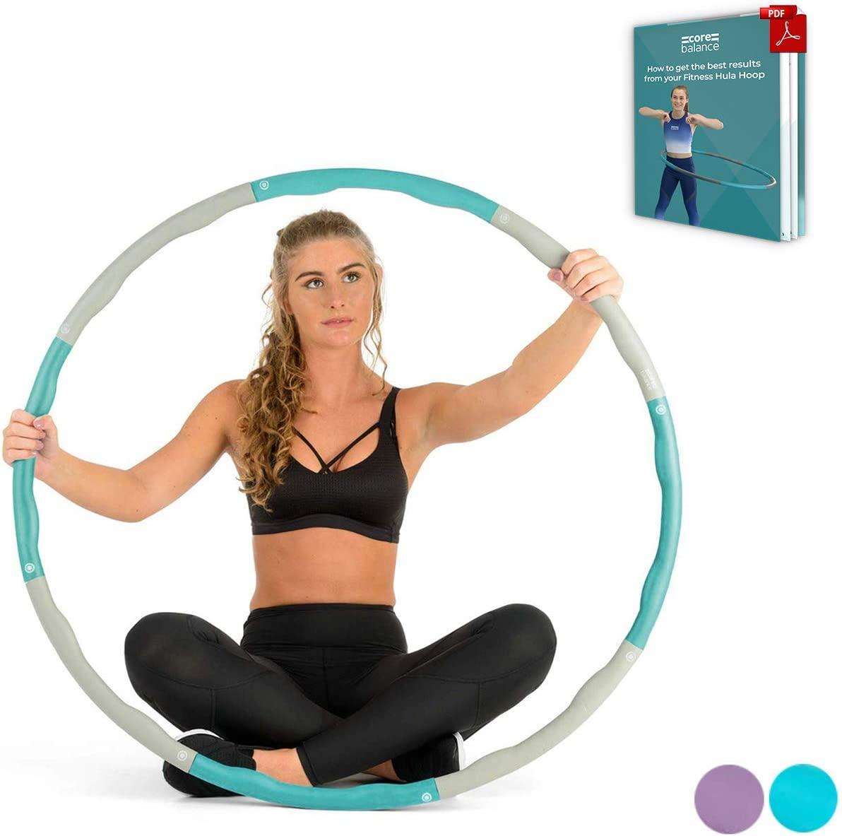 amazon co uk fitness hula hoops sports \u0026 outdoorsweighted hula hoop fitness abs exercise workout padded collapsible hoola 1 2kg