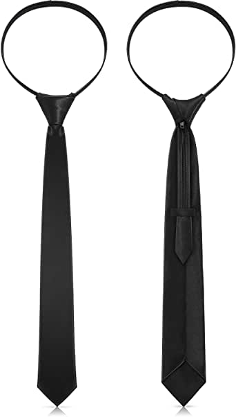 2 Piezas Cremalleras Corbatas para Mujeres Corbatas Pre-atadas con ...