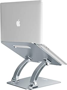 "Nulaxy Laptop Stand, Ergonomic Adjustable Laptop Riser Computer Laptop Stand Compatible with MacBook, Air, Pro, Dell XPS, Samsung, Alienware All Laptops 10-17.3"", Supports Up to 44 Lbs - Space Grey"