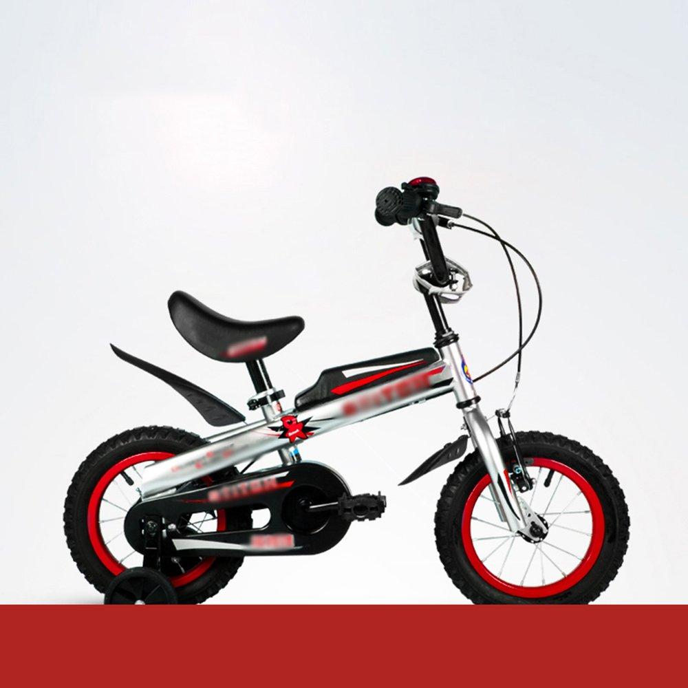 HAIZHEN マウンテンバイク 子供用自転車12インチ14インチ16インチレッドブルーハンドルバーシートの高さ調節可能な安全で信頼性の高い 新生児 B07C6R7BG9 12 inch|赤 赤 12 inch