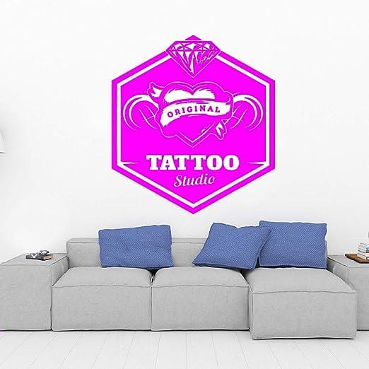yaoxingfu DIY Personalizado Tatuaje Estudio Etiqueta de la Pared ...