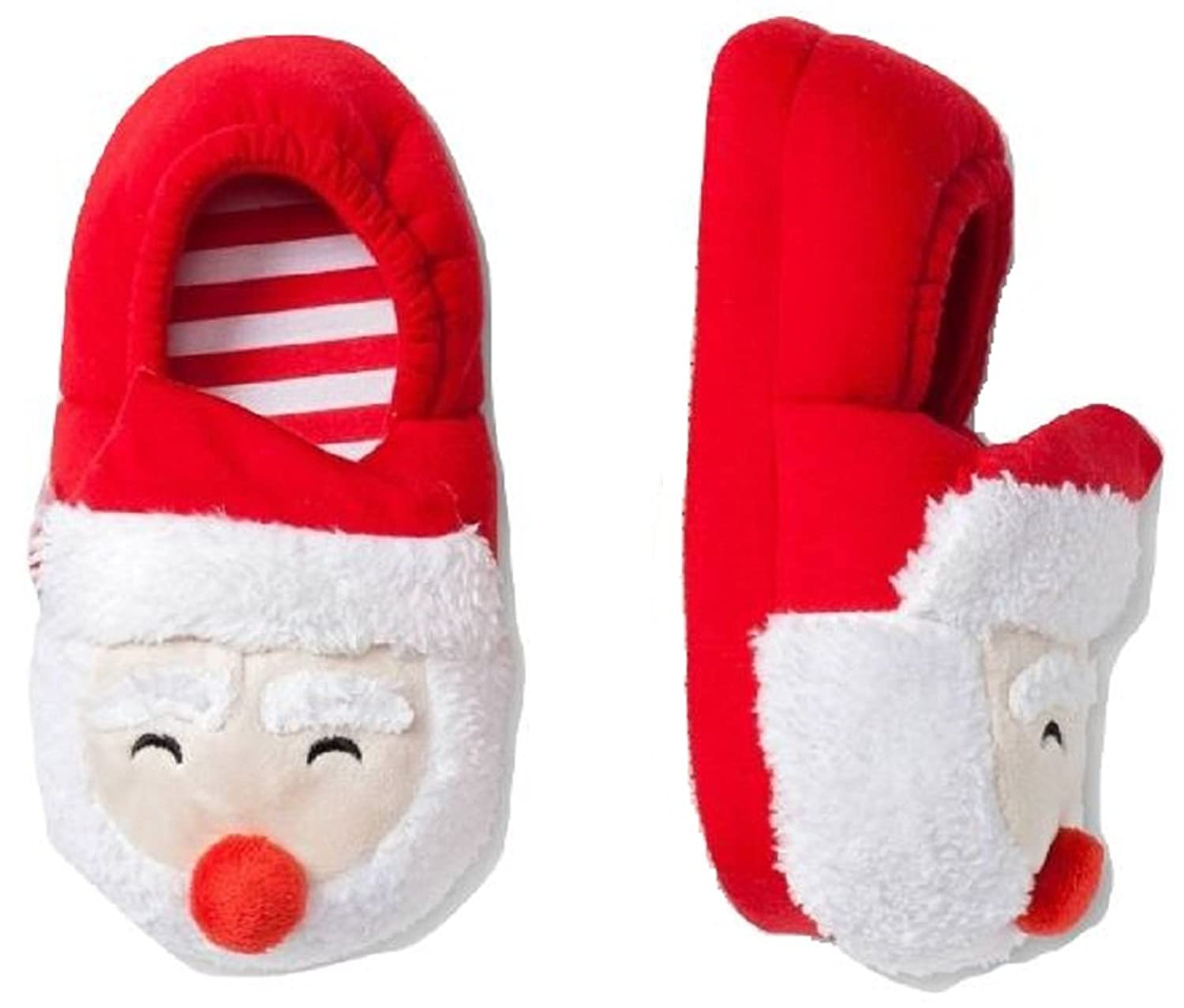 Amazon.com: Santa Claus Christmas Slippers Warm Fur Infant Toddler ...