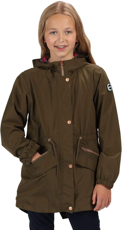 Regatta Unisex Kids Tamora Waterproof and Breathable Fishtail Hem Hooded Outdoor Jacket