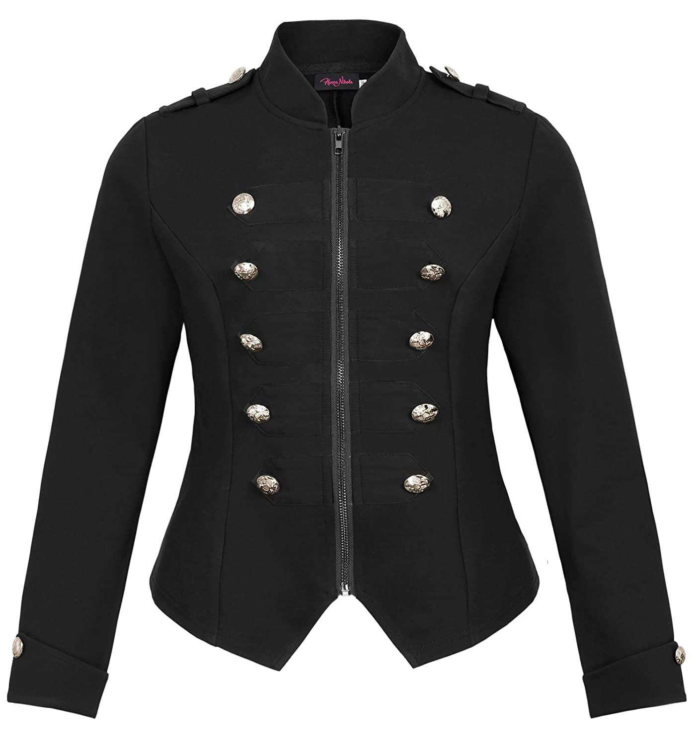 Steampunk Tops | Blouses, Shirts Womens Plus Size Victorian Zip Up Stand Collar Military Light Jacket Blazers $28.99 AT vintagedancer.com